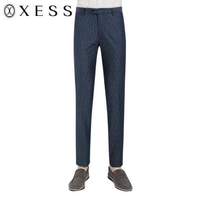 (제스)남성 플라워 패턴 코튼 캐주얼 팬츠(XCECP1324)