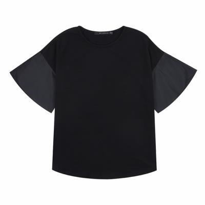 [카이아크만] 소매셔링 티셔츠(KQBTS511W0_BK)