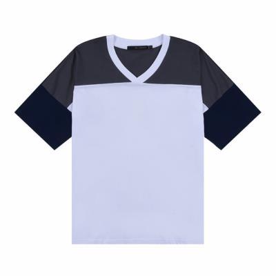 [카이아크만] 브이넥 배색 티셔츠(KQBTS520W0_WH)