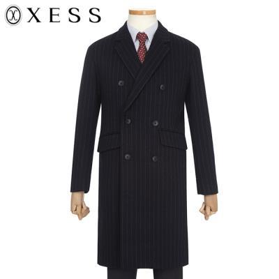 (제스) 남성 모혼방 스트라이프 세미오버핏 더블버튼 코트(X8JHC1142)