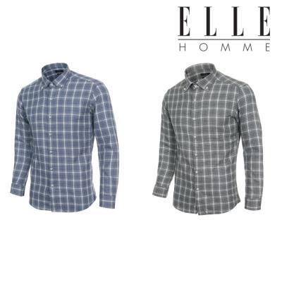 [특가세일] 엘르옴므 기모 체크 버튼다운 슬림 긴소매셔츠 E174S-95572 3