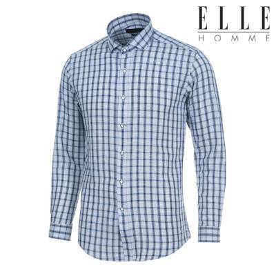 엘르옴므 시즌오프SALE 바이오워싱체크 와이드 슬림핏 긴소매셔츠 EAHMS-81820