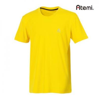 [아테미]남녀공용 심플 라운드 반팔 티셔츠_AWHM-75161U_YE