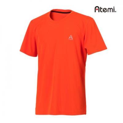[아테미]남녀공용 심플 라운드 반팔 티셔츠_AWHM-75161U_OD