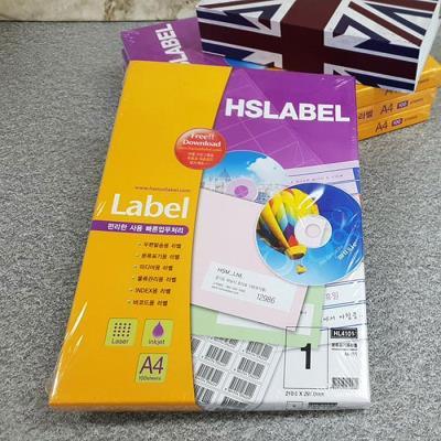 Hnasol Label Paper 100매 HL4101 분류표기용 1칸