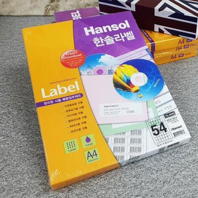 Hnasol Label Paper 100매 HL4609 분류표기용 54칸