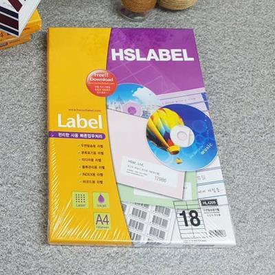 Hnasol Label Paper 100매 HL4209 우편발송용 18칸