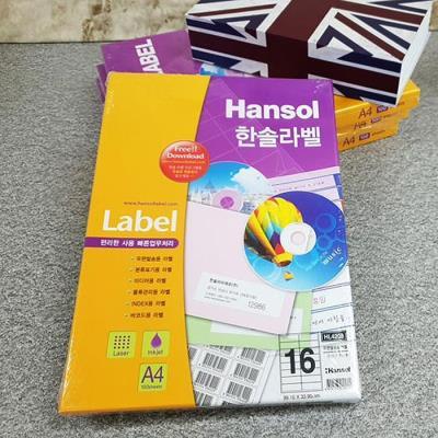 Hnasol Label Paper 100매 HL4208 우편발송용 16칸