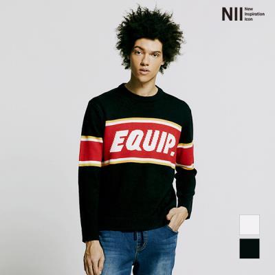 [NII] 남성 EQUIP자카드 스웨터_2NNXBRUS1241
