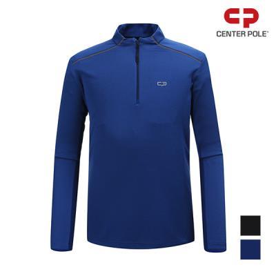 [센터폴]남성 어깨 웰딩 포인트 사각 조직 집업티셔츠_CMJALTS1301