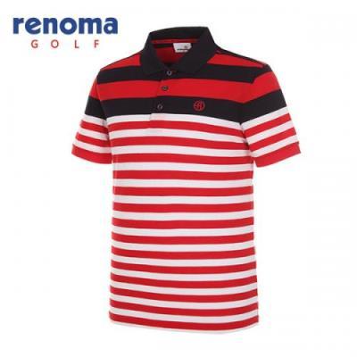 [레노마골프]남성 배색 카라 반팔 티셔츠 RMTPG2110-500_G