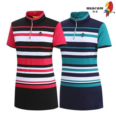 (여성)컬러배색반집업티셔츠_MHW2TH11