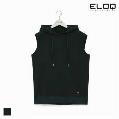 [ELOQ]남성 슬리브리스 루즈핏 후드 티셔츠(B184MST154M)