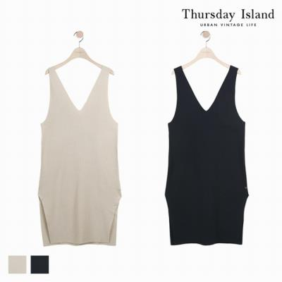 [Thursday Island]여성 레이어드 롱 베스트(T182MVT133W)