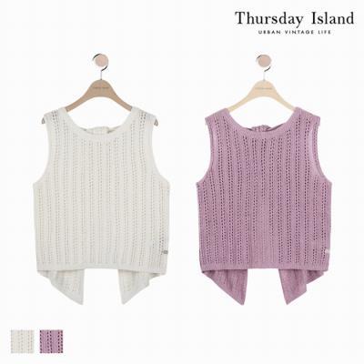 [Thursday Island]여성 뒷트임 스카시 베스트(T184MVT233W)