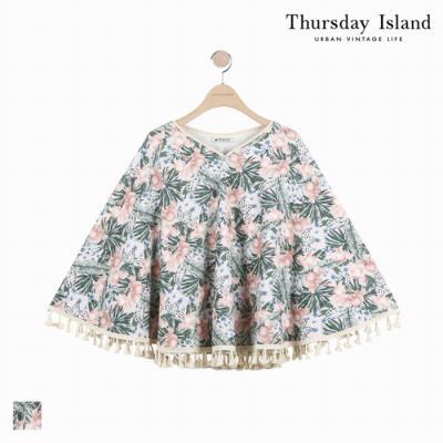 [Thursday Island]여성 빅플라워 패턴 타올지 커버업(T184MSF235W)