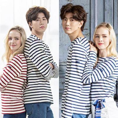 세인트제임스 남녀공용 긴팔티셔츠 커플티셔츠 5종택1