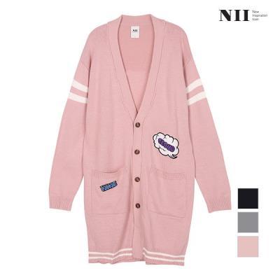 [NII] 여성 구름 와펜 스웨터 롱가디건_2NNYBZTF8321