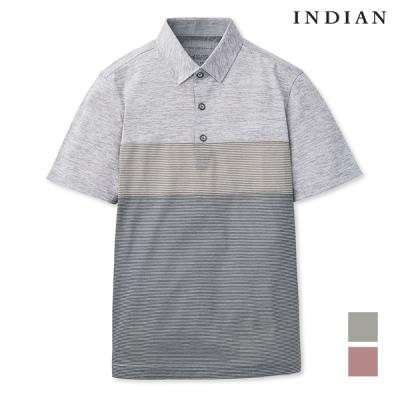 [INDIAN] 남성 3단 절개 티셔츠_MITASUM2221