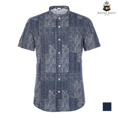 [BRUNO BAFFI] 프린티드 차이나카라 반팔 셔츠_MAUNSTM6206