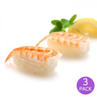 [2+1] [마칸] 초밥용 초새우 2L 대 140g x 3팩 (총90미)