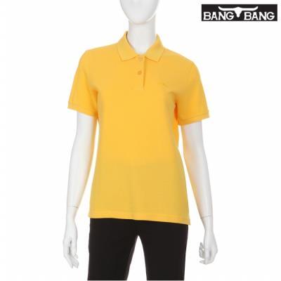 [뱅뱅] 여성 코튼 카라 반팔 티셔츠 옐로우