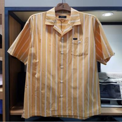 W몰 캉골 캉골 스트라이프 쇼트 슬리브 셔츠 7033MST