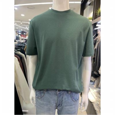 W몰 애드혹 남성 니트 반팔 티셔츠 W5ST33LH