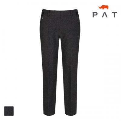 PAT 여성 오비 배색 스트레이트 팬츠-1E21602