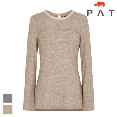 PAT 여성 줄비즈 장식 티셔츠-1D25301