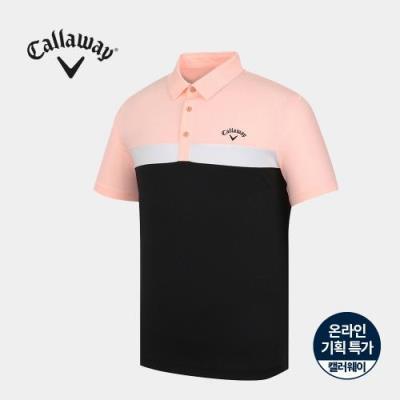 [캘러웨이]기획 남성 컬러 블럭 카라 반팔 티셔츠 CMTYJ2668-304_G