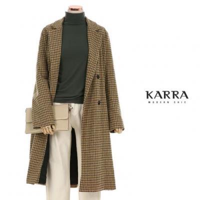 KARRA COLLEC 하운드체크테더블원체인치코트_KB0SCT001A