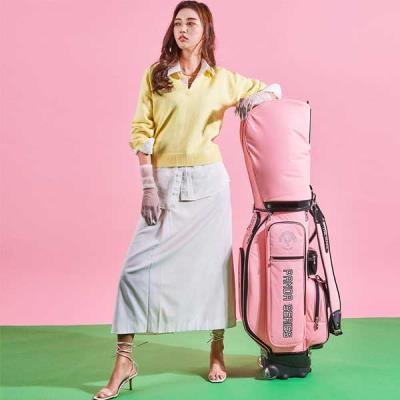 THE MAKE_판다 여자 캐디백+보스턴백 핑크 세트