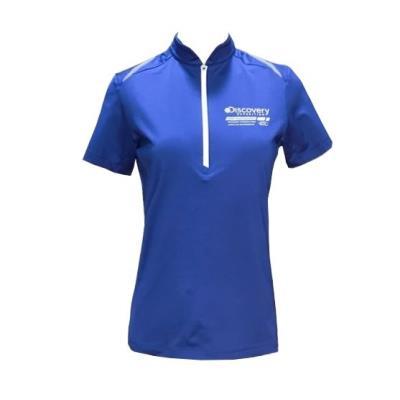 여성 메쉬 이밴드 포인트 짚업 티셔츠 DWZT62631