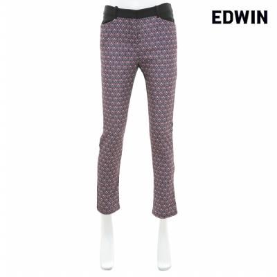 [에드윈 헨어스] 여성 패턴 배색 팬츠 검정