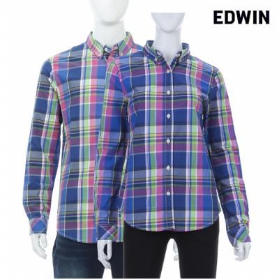 [에드윈 헨어스] 공용 빈티지 체크 셔츠 핑크