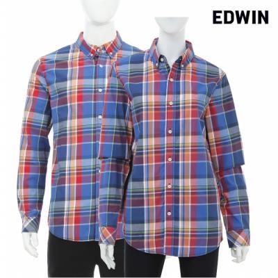 [에드윈 헨어스] 공용 빈티지 체크 셔츠 빨강