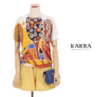KARRA 컬러페인팅라운드니트_KB0MKN032C