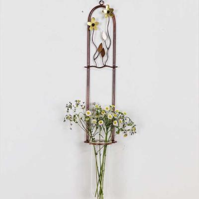 꽃두송이 1단 황동수공예 수경식물 장식 유리 꽃 화병