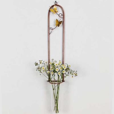 나비 1단 황동수공예 수경식물 장식 유리 꽃 화병