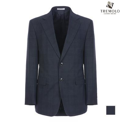 [TREMOLO] 울 블렌드 체크 싱글 투버튼 자켓_TGBGATM3426
