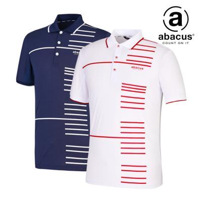 (남성)포인트 줄무늬 폴로 티셔츠_AJ21TPMK829