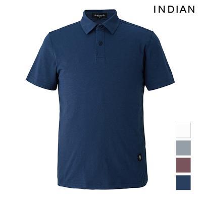 [INDIAN] 솔리드 면혼방 카라티셔츠_MIUASWM2161
