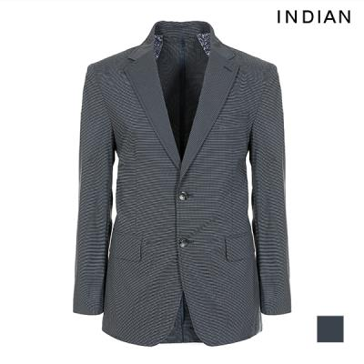 [INDIAN] 마이크로 체크 코튼 블렌드 자켓_MITFUTM3119
