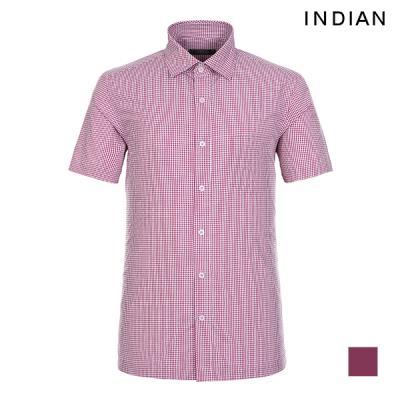 [INDIAN] 미니 체크 원포켓 반팔 셔츠_MIKNSUM3111