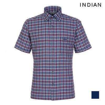 [INDIAN] 캐주얼 체크 반팔 셔츠_MITNSVM5326