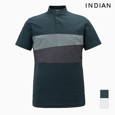 [INDIAN] 가슴 배색 반팔 티셔츠_MITASVM2231