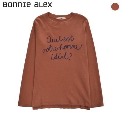 (보니알렉스) 레터링 라운드 티셔츠(BDTB702Z)