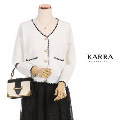 KARRA 리옹배색숏가디건_KB0FCD303C