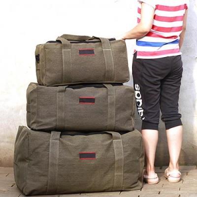 캔버라캔버스 캠핑 여행 대용량 가방(중형)